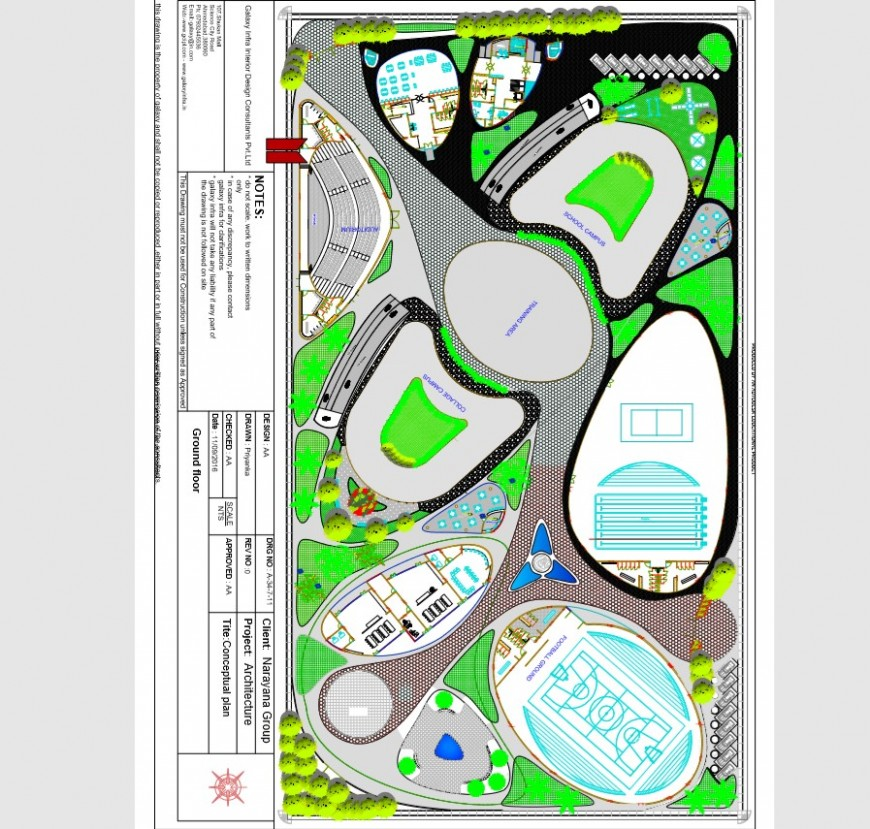 Detail 2d plan of a sports ground and area 2d view pdf file