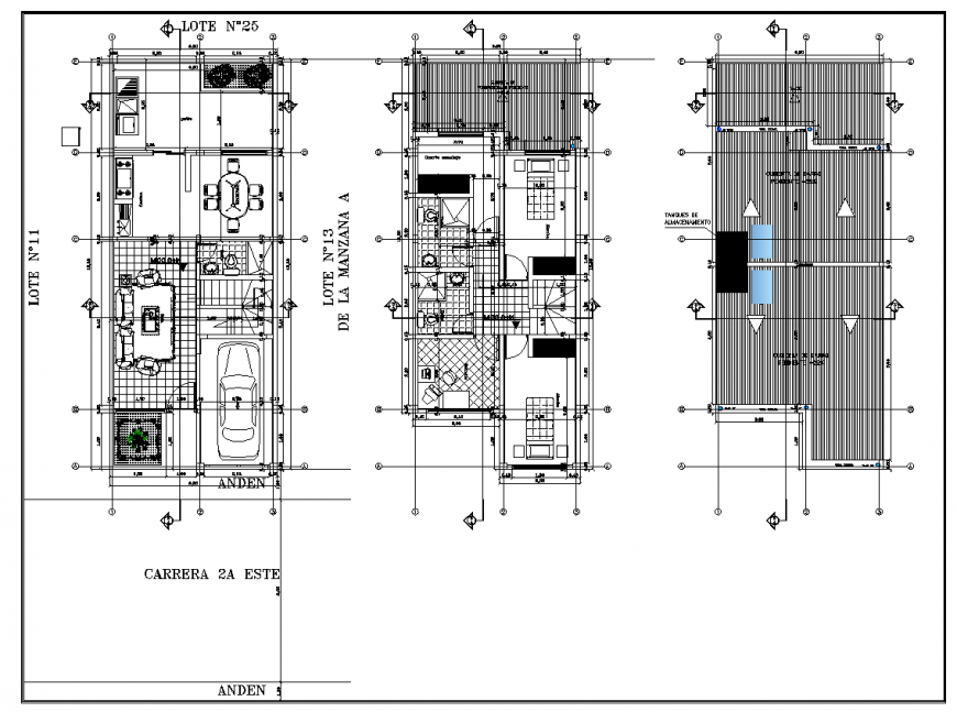 Detail 2d plan of housing block layout file in autocad format