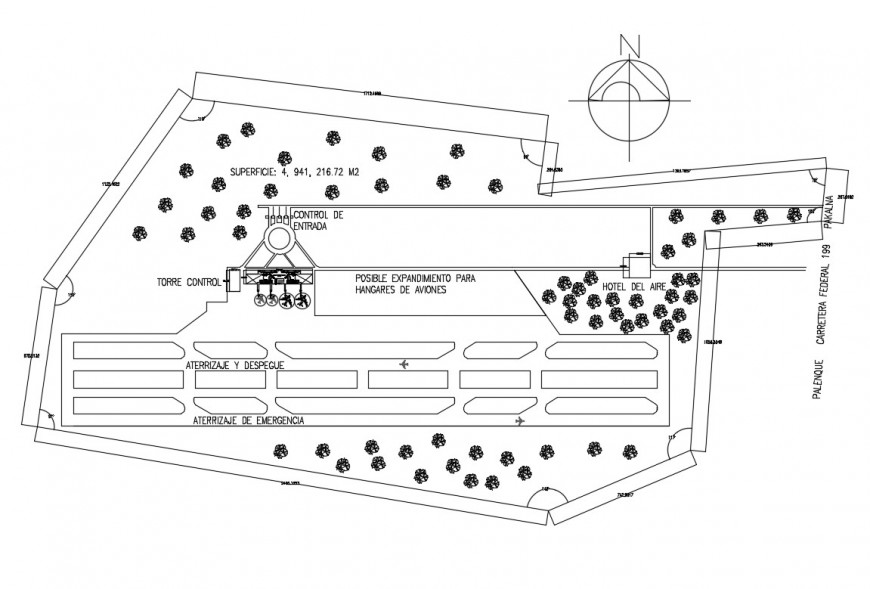 Detail 2d plan of runway CAD airport block autocad file