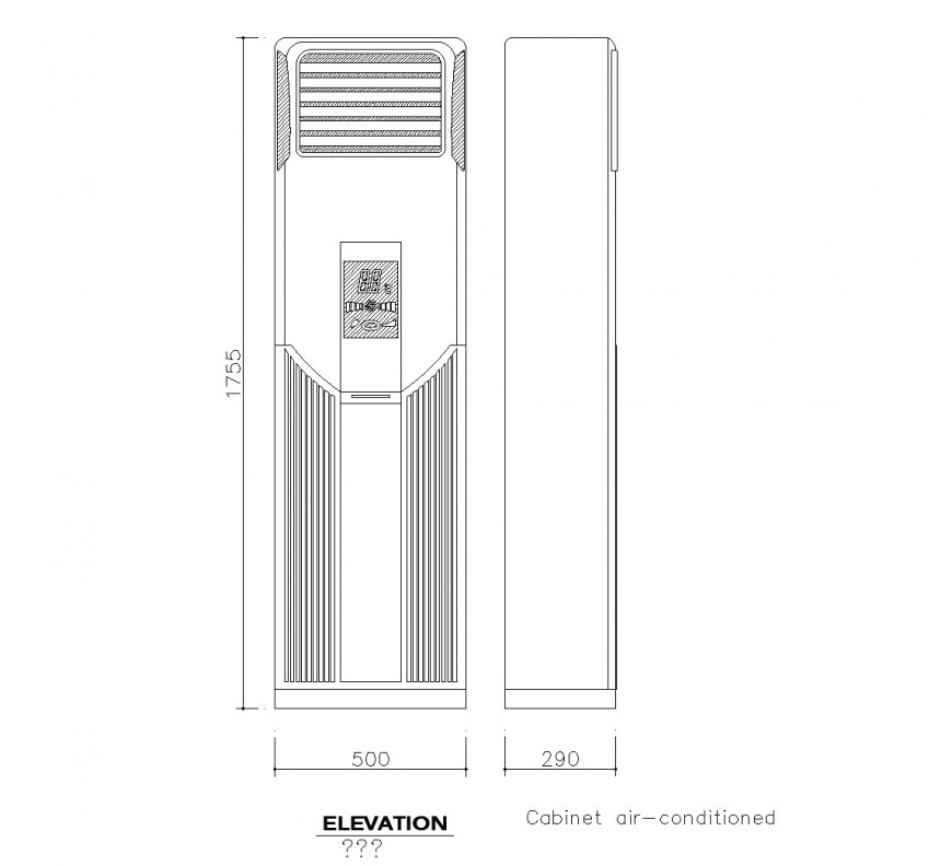 Detail Cabinet air conditioning autocad file