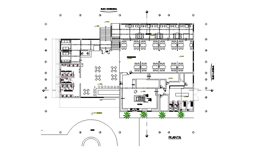 Detail Chinese restaurant autocad file