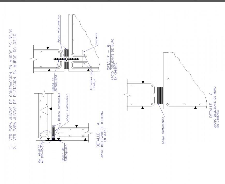 Detail Column section plan layout file