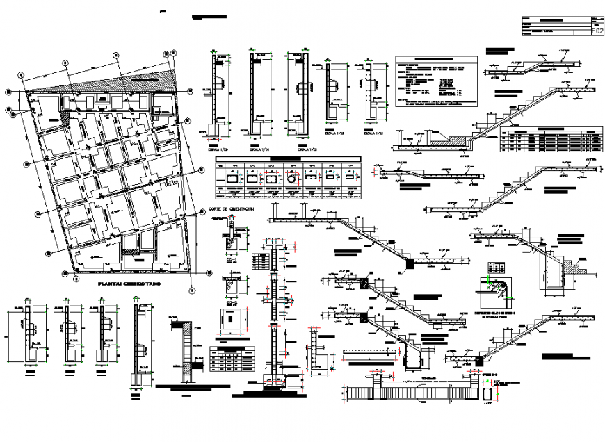 Detail commercial building layout file