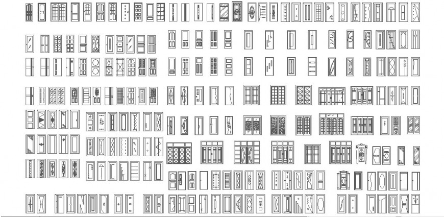 Detail different elevation door layout file
