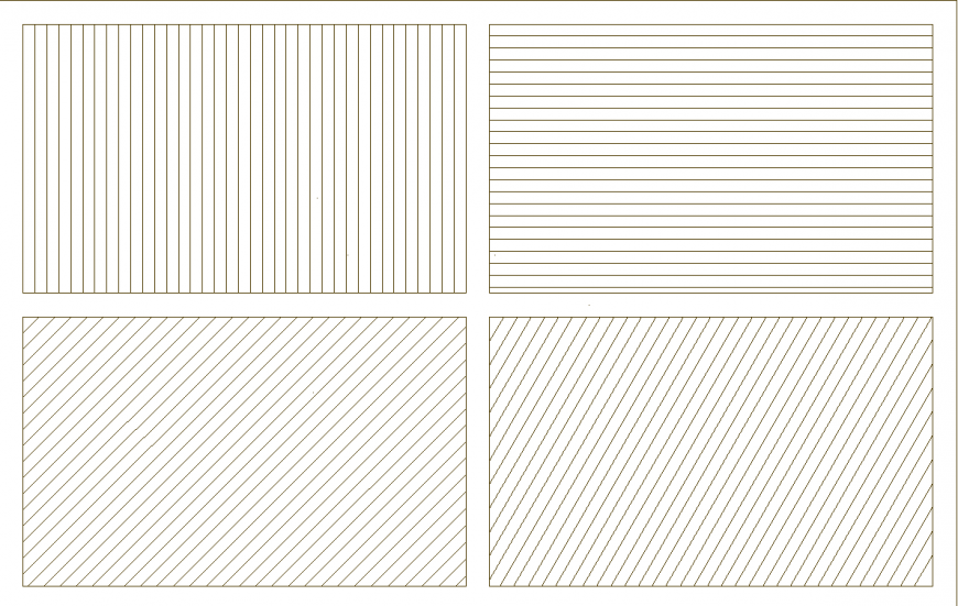 Detail drawing of different lines drawing in dwg file.