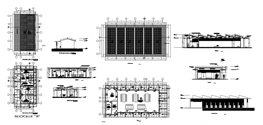 Detail drawing of library in dwg file.