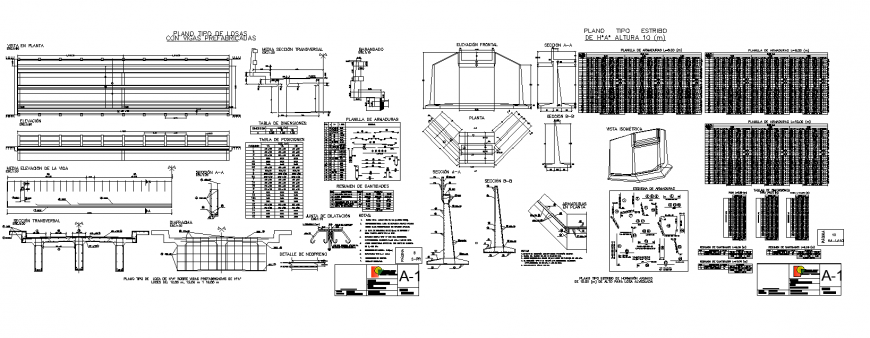 Detail drawing of the bridge in dwg file.