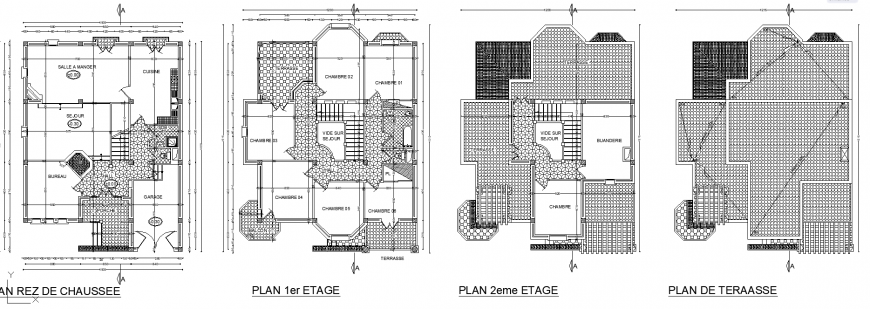 Detail drawing of the corporate home in dwg file.