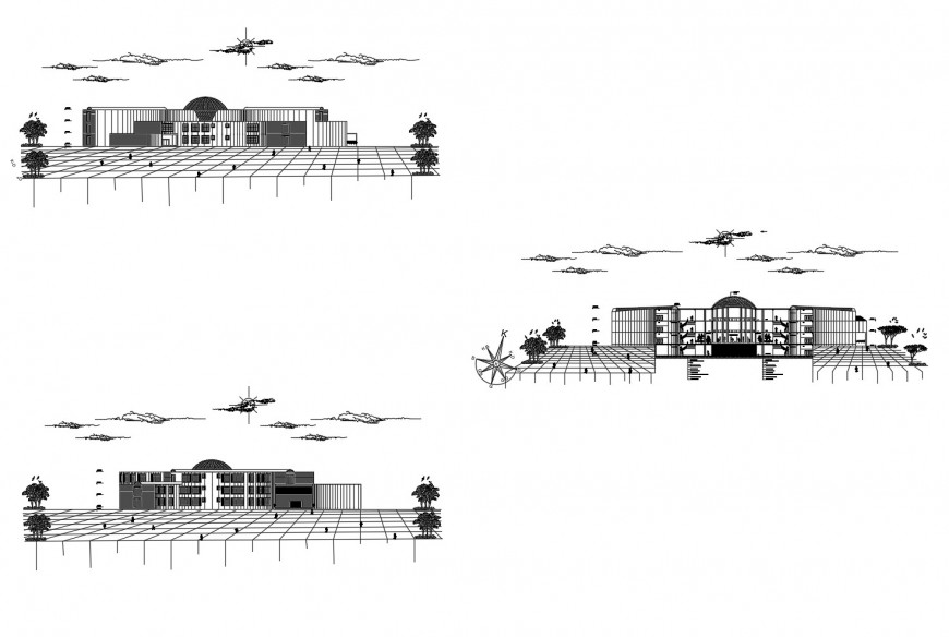 Detail Elevation of building block 2d view layout file in autocad format