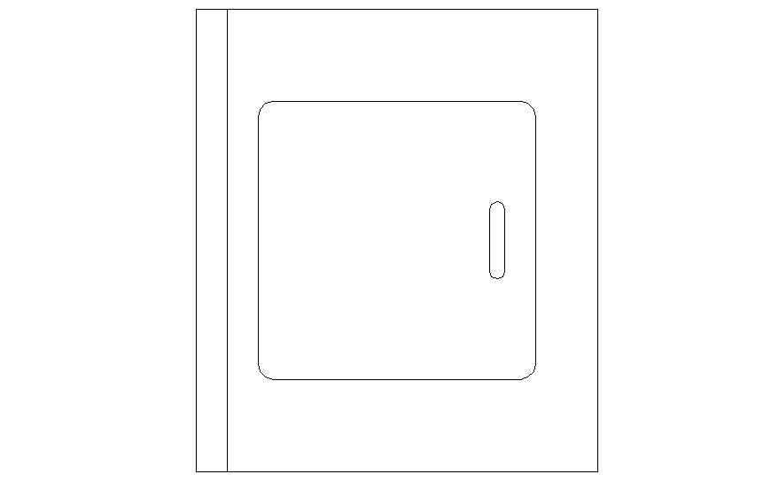 Detail Elevation of cabinet 2d view in autocad