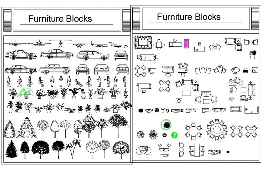Detail furniture block 2 d layout file
