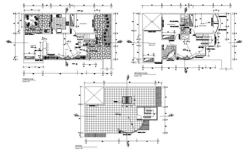 Detail house working drawing in dwg file.