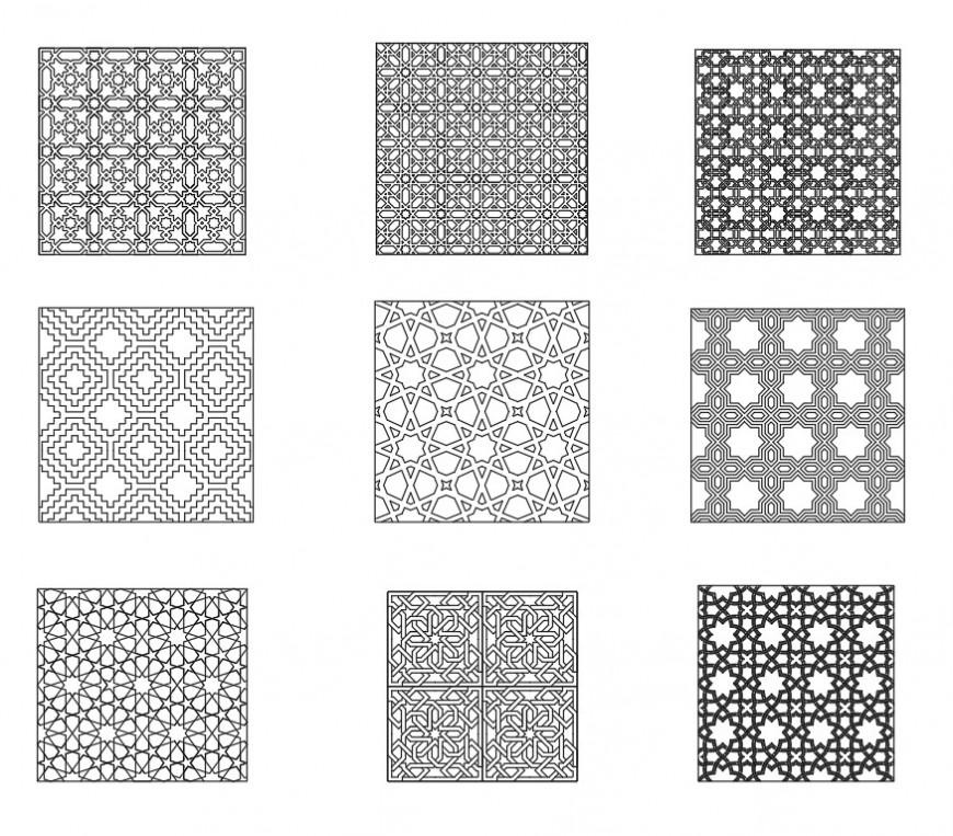 Detail Islamic decorative pattern plan