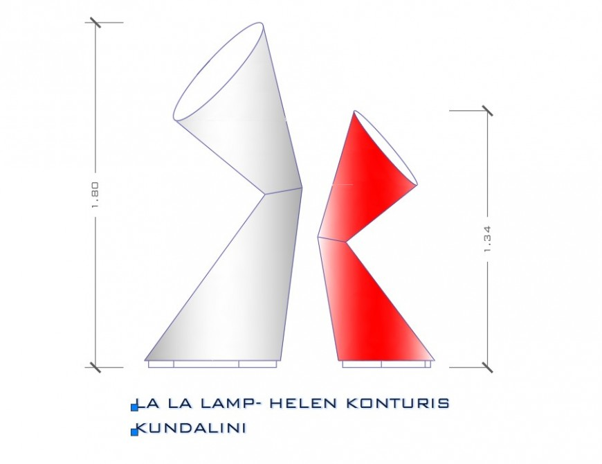 Detail kundalini lamp detail