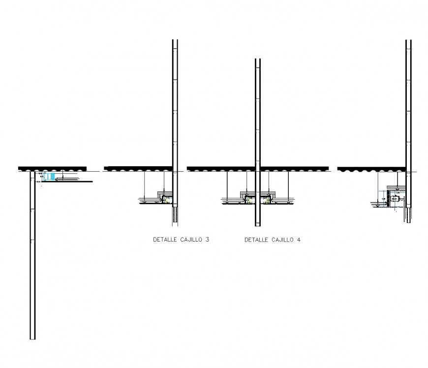 Detail light in boxes plan autocad file