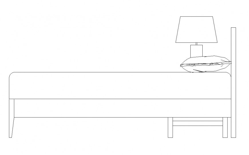 Detail of bed furniture CAD blocks layout file in autocad format