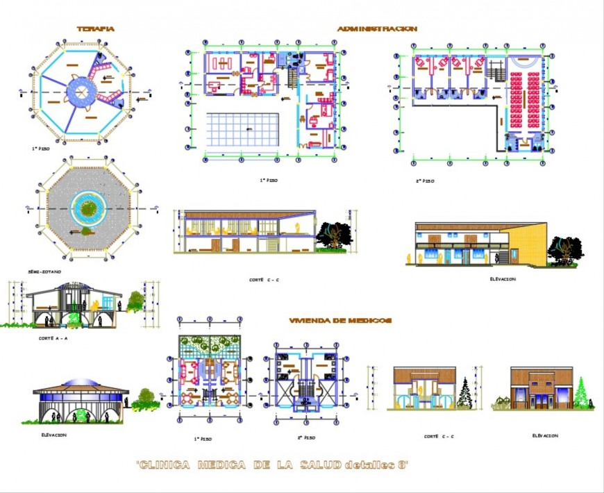 Detail of clinic plan layout file
