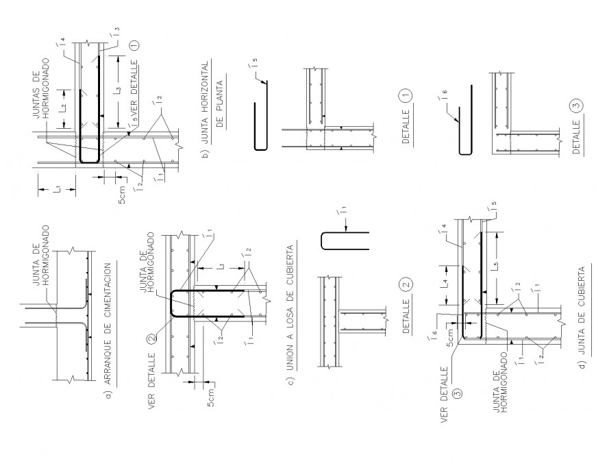 Detail of creak foundation plan and section autocad file