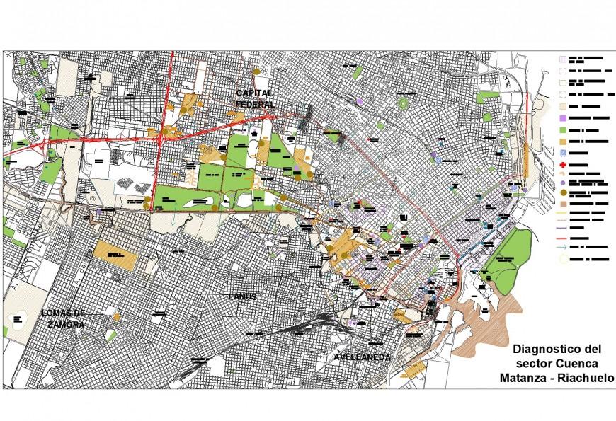 Detail of development city plan layout file