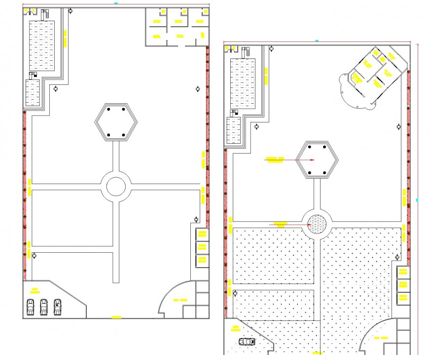 Detail of Fame house plan autocad file