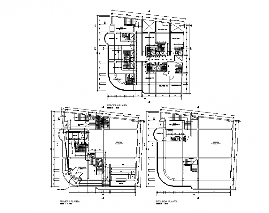 Detail of first floor to terrace home dwg file