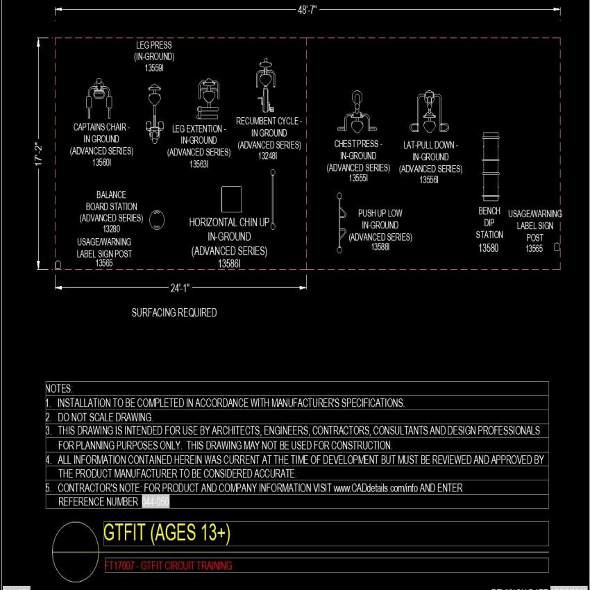 Detail of Gtfit plan autoad file