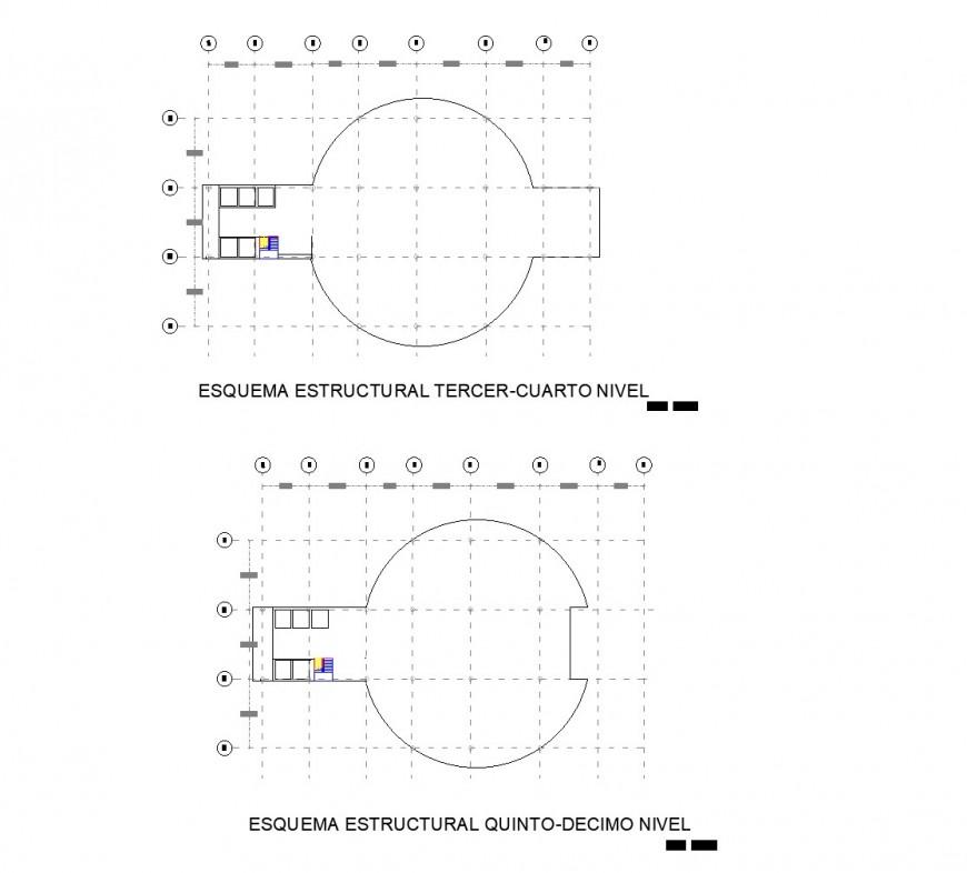Detail of hidden line Plant architect commercial plan dwg file