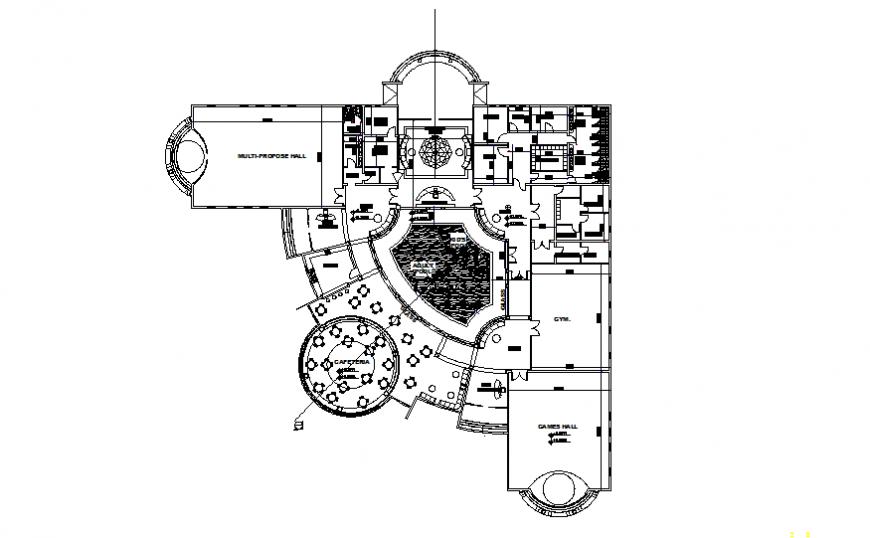 Detail of hotel furniture plan layout file