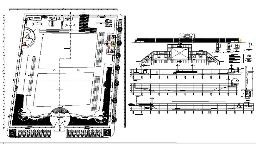 Detail of landscaping layout file in autocad