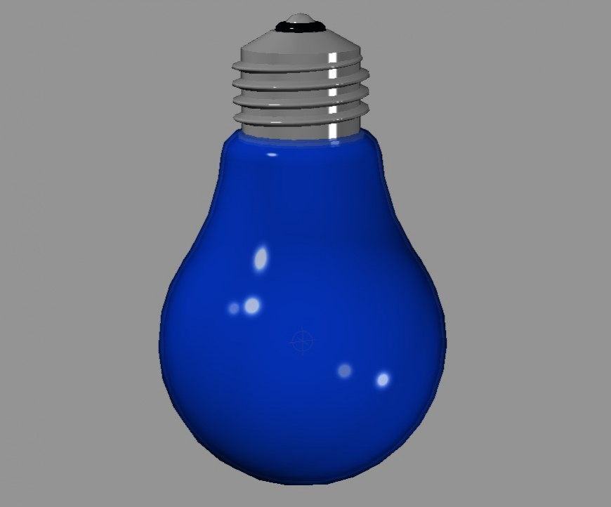 Detail of light bulb 3d model CAD blocks layout file in dwg format