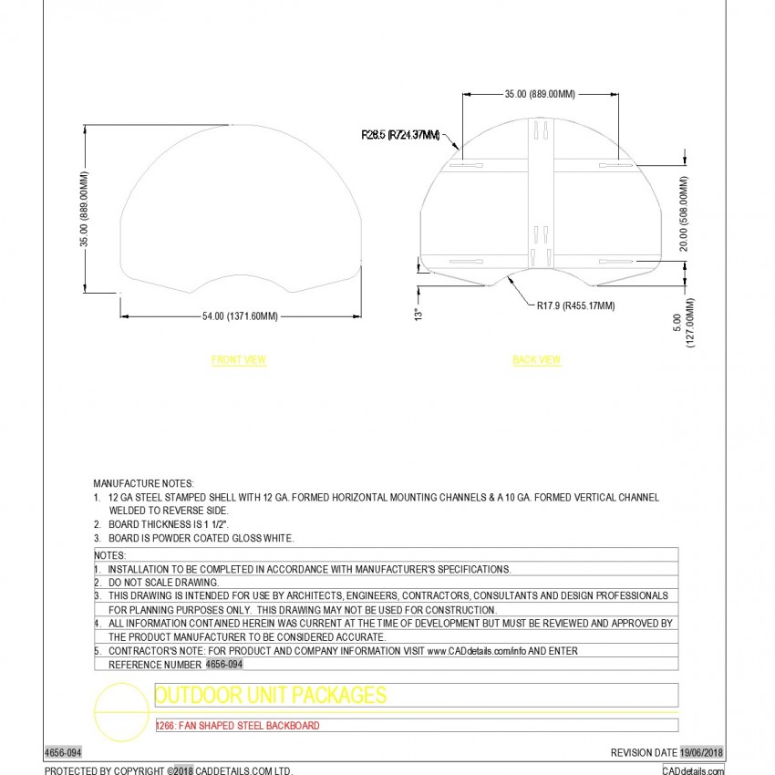 Detail of Outdoor unit packages autocad file