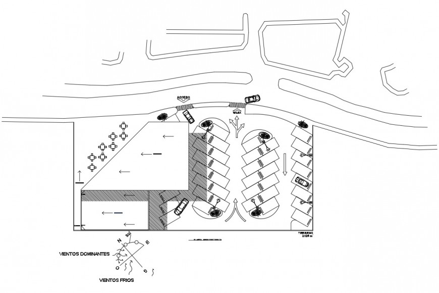 Detail of parking system plan 2d view autocad file