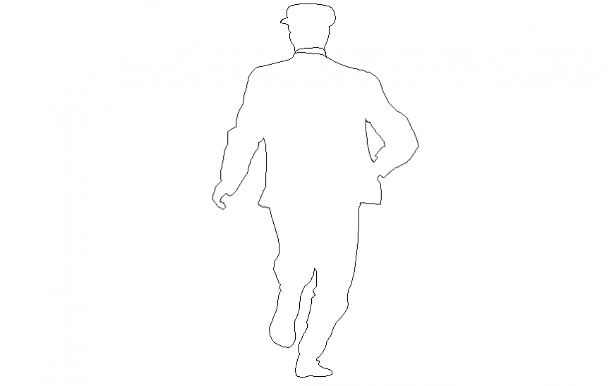 detail of people shadow 2 d dwg file