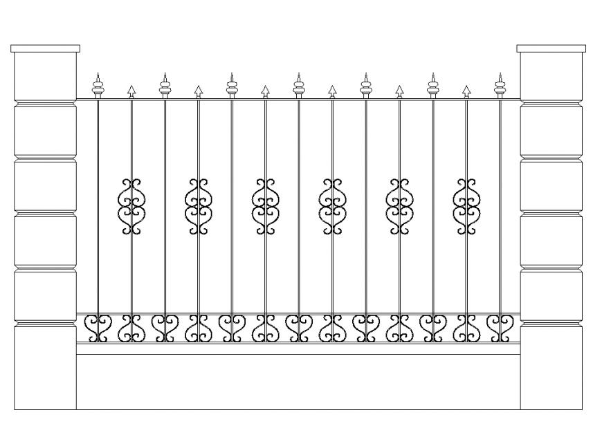Detail of reeling elevation plan dwg file