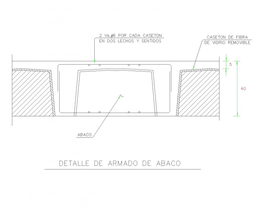 Detail of Reticular slab details layout file