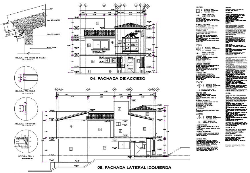 Detail of section 3 BHK house layout file