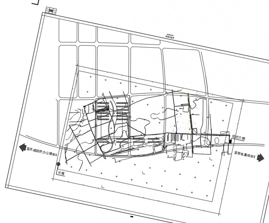 Detail of site location plan layout file