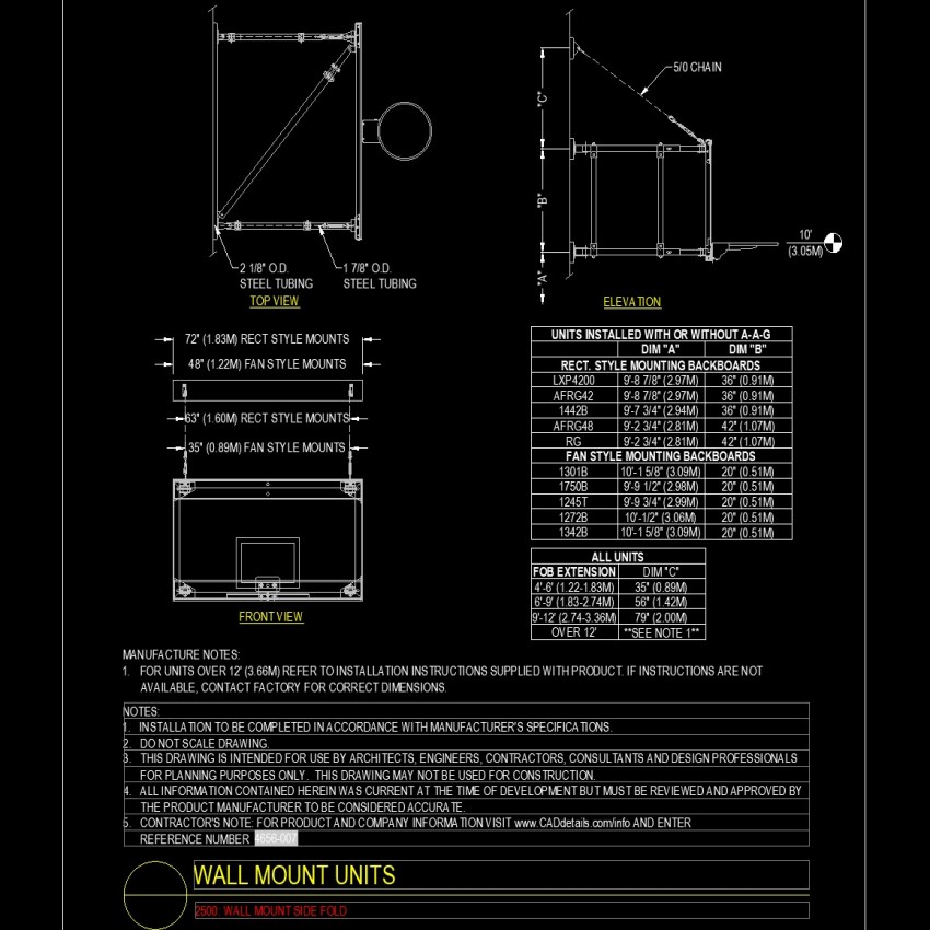 Detail of Wall mount units layout file