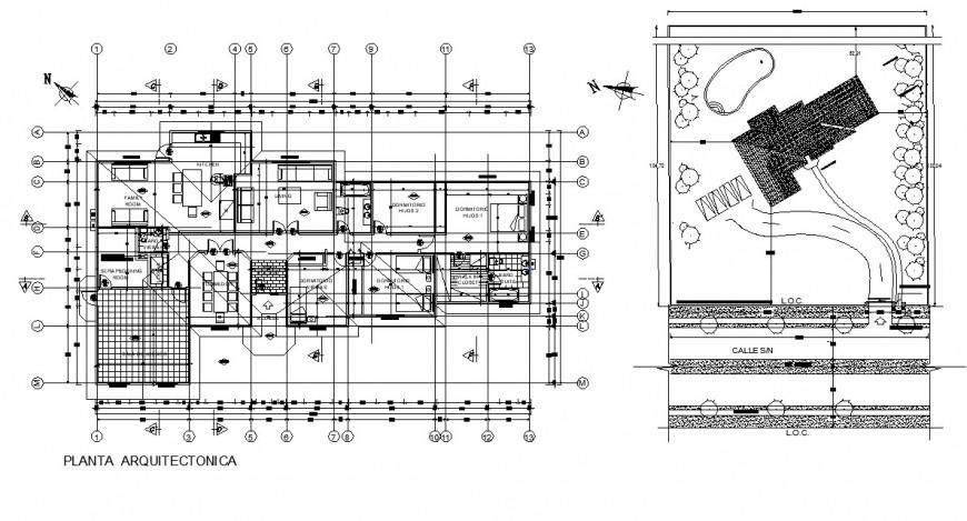 detail plan of housing blocks 2d view autocad file