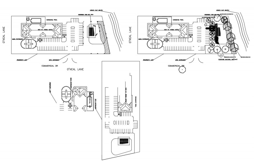 Detail plan of parking system block 2d view autocad file