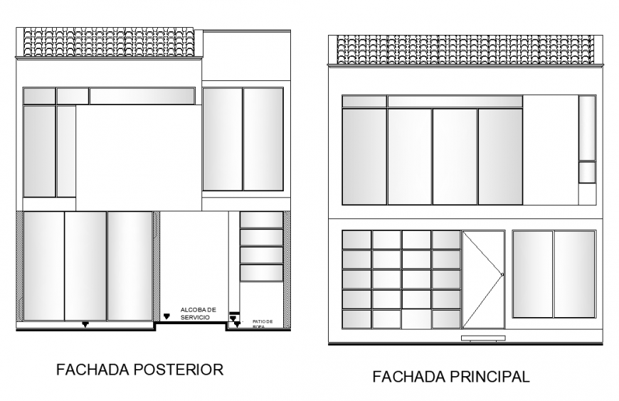 Detail principal of building structure 2d view layout file