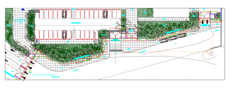 Detail residential area plan and elevation layout 2d view autocad file