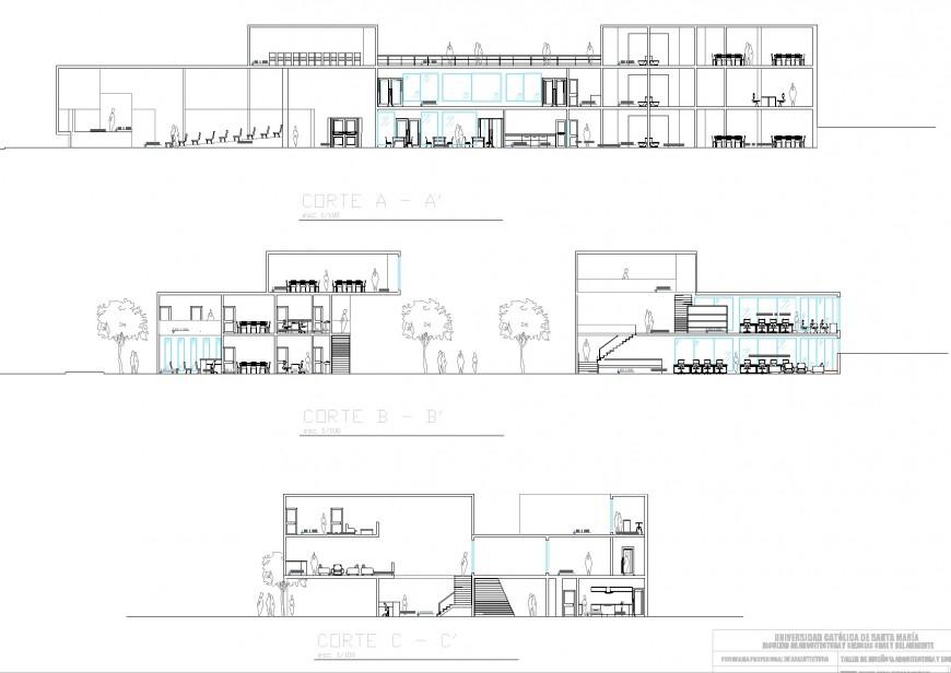 Detail Restaurant section plan dwg file