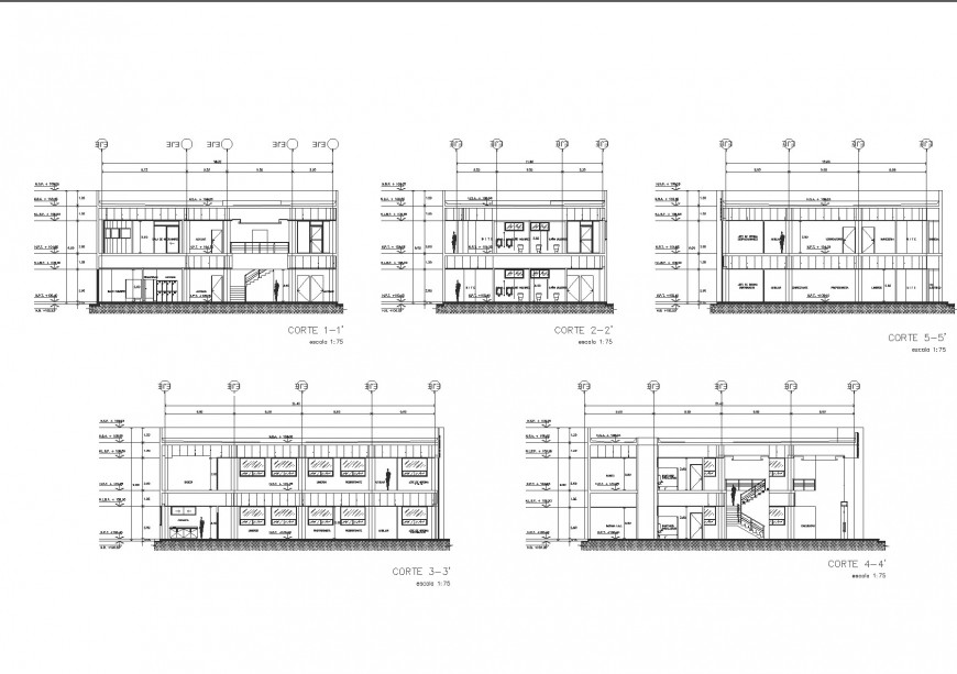 Detail Section house plan autocad file