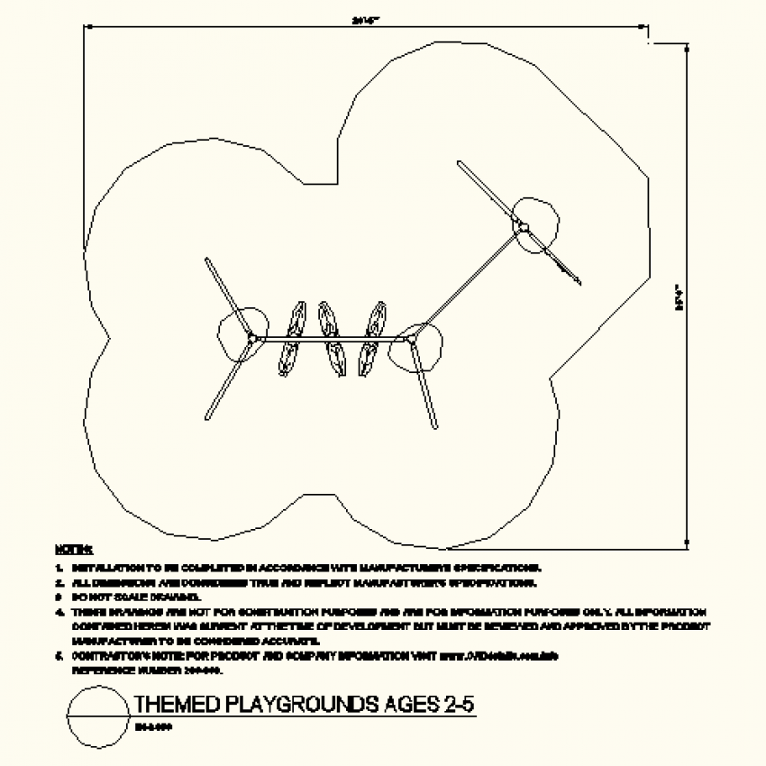 Detail themed play ground layout plan