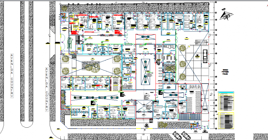 Detailed architecture layout plan details of multi-specialist hospital dwg file