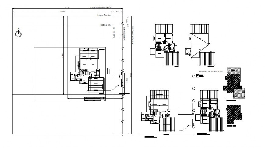 Detailing drawings of apartment house plan 2d view dwg file