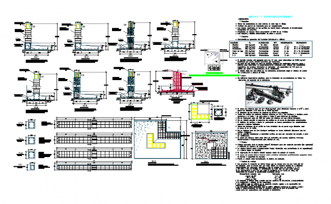 details of foundations cad dwg files.