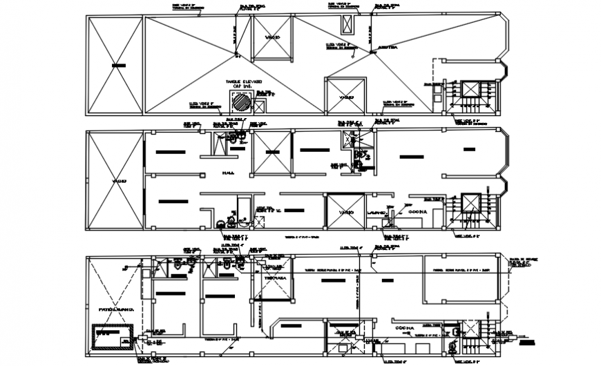 Details of housing blocks CAD drawings 2d view autocad software file