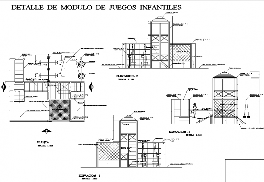Details of union park equipment drawing in dwg file.
